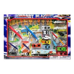Diecast Airport Set (42 Piece Set)