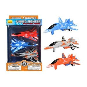 6 Friction Power Turbo Fighter Jet - Assorted (Case of 36)