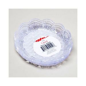 Dish Clear Round 3Pk 6-1/4In Glass Look (Case of 48)