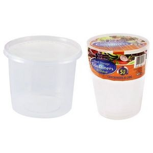 25 oz. Round Storage Container 5-Packs - Nicole Home Collection (Case