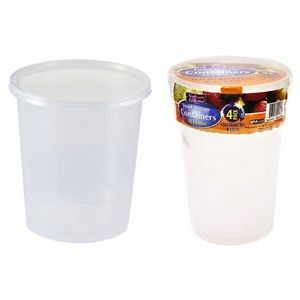 32 oz. Round Storage Container 4-Packs - Nicole Home Collection (Case