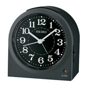 Seiko QHE179K Desk Alarm Clock - Black