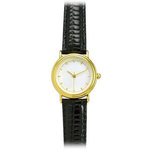 Matsuda Double Rings Women's Watch w/ 18K Gold Plated Case