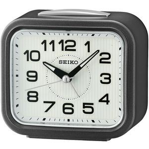 Seiko QHK050N Desk Alarm Clock - Black