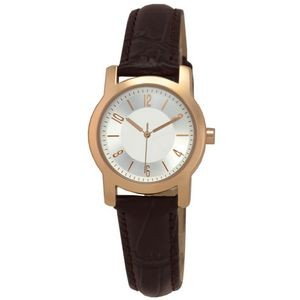 Matsuda Concord Rose Gold Watch (Silver/Brown - Ladies)