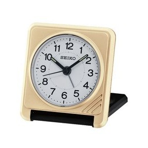 Seiko QHT015G Travel Alarm Clock - Gold