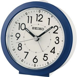 Seiko QHE174L Beside Alarm Clock - Blue & White