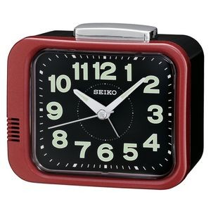 Seiko QHK028R Desk Alarm Clock - Red