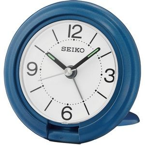 Seiko QHT012L Travel Alarm Clock - Blue