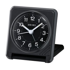 Seiko QHT015K Travel Alarm Clock - Black