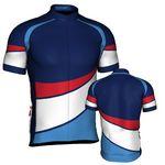 Custom Fondo Custom Cycling Jersey (White/ Blue/ Lt Blue/ Red)