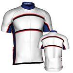Custom Fondo Custom Cycling Jersey (White/ Blue/ Black/ Red)