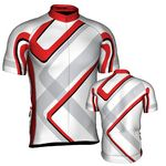Custom Fondo Custom Cycling Jersey (White/ Black/ Red)