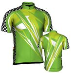 Custom Fondo Custom Cycling Jersey (White/ Black/ Green/ Light Green)
