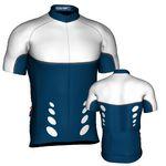 Custom Fondo Custom Cycling Jersey (White/ Blue/ Gray)