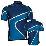 Custom Fondo Custom Cycling Jersey (White/Lt Blue/Navy)