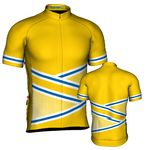 Custom Fondo Custom Cycling Jersey (Gold/Blue)
