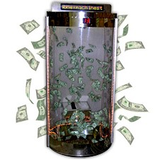 All-Clear Deluxe Circular Cash Cube Money Machine