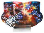 Custom Crystal World Art Glass Vase 14