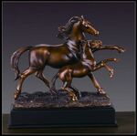 Custom Mother and Baby Horse Award 9