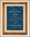 Custom American Walnut Plaque with Sapphire Engraving Plate, 11 x 14