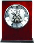 Custom Rosewood/Silver Piano Finish Square Clock 6 1/4