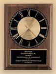 Custom American Walnut Vertical Wall Clock with Square Face 8 x 10