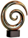 Custom Circle Maze Art Glass Award 9 1/4