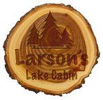 Custom Old West Log Wood Plaque, 9