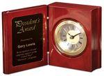 Custom Rosewood Piano Finish Book Clock, 5 3/8