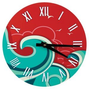 "Full Color Round Wall Clock, 8.125"" dia"