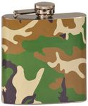 Custom Stainless Steel Flask, Camouflage, 6 oz