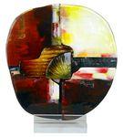 Custom Golden Beach Art Glass 12.5