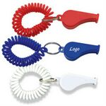 Custom Whistle Coil Keychain