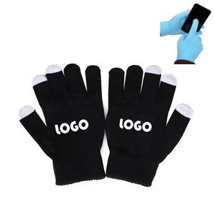 Smartphone Acrylic Touch Screen Knit Gloves