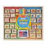 Custom Animal Deluxe Wooden First Stamp Set