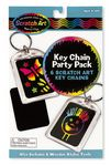 Custom Scratch Art Key Chain Party Pack
