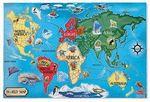 Custom World Map Floor Puzzle