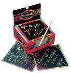 Custom Scratch Art Box of Rainbow Mini Notes