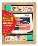Custom Baby Farm Animal Stamp Set