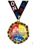 Custom Quick Ship Triathlon Medal