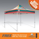 Custom Best Seller Promo Tent 10x10 Fully Digital Printed Steel Frame