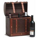 Custom Chateau Antique 6 Bottle Wine Box