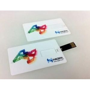 Slim Plastic Credit Card 16 GB USB Drive