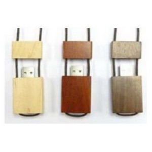 Wood Necklace 64 MB USB Drive