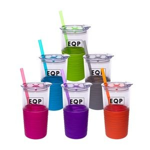 20 oz Acrylic Tumbler with Distinctive Silicone Sleeve