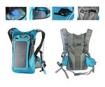 Custom Solar Charger Panel Backpack with 2L Hydration Pack and Ergonomic Carrying System