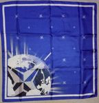 Custom Silk Digital printed custom logo scarves 24 x 24 inches