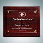 Custom Rosewood Piano Finish Plaque - Floating Acrylic Plate