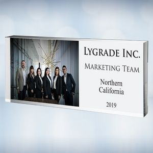 Color Imprinted Photo Acrylic Executive Nameplate